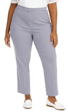Alfred Dunner Plus Size Easy Street Checked Pull-On Pants