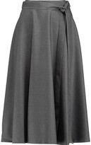 Iris and Ink Nancy Twill Midi Skirt