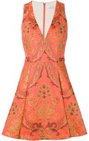Alice + Olivia Alice+Olivia v-neck brocade jacquard dress
