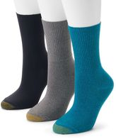Gold Toe Women's GOLDTOE 3-pk. Ultrasoft Turn-Cuff Crew Socks