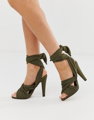 Asos Design DESIGN Husky block heeled sandals