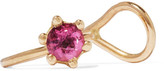 Saskia Diez Rose Solitaire 18-karat Gold Tourmaline Ear Cuff - one size