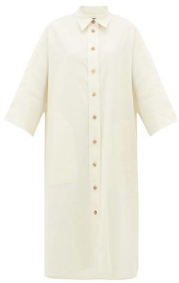 Joseph Baker Cotton-blend Cropped-sleeve Shirt Dress - Womens - White
