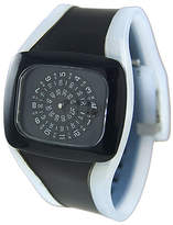 Geneva Platinum Black & White Watch