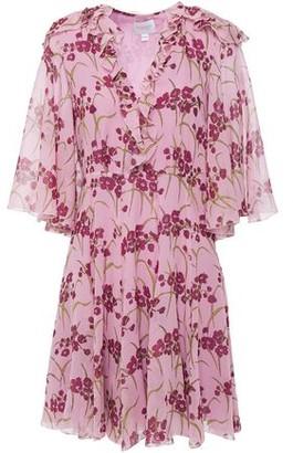 Giambattista Valli Ruffled Lace-trimmed Silk-georgette Mini Dress