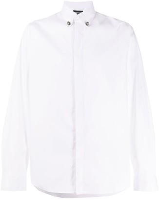 Just Cavalli Crystal-Button Long-Sleeve Shirt