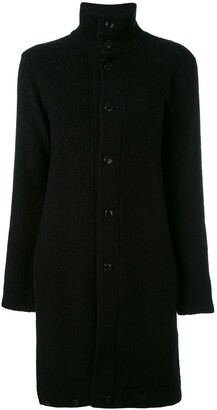 Yohji Yamamoto Pre-Owned long funnel neck jacket