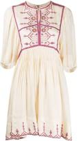 Etoile Isabel Marant geometric embroidered silk dress