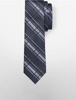 Calvin Klein Steel Indigo Plaid Tie