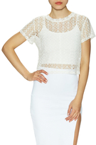 Donna Mizani Orbit Cotton Lace Baby Top