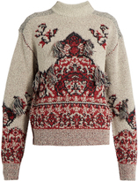 Toga Rug-jacquard high-neck sweater