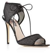 Sarah Jessica Parker Ravish Leather and Glitter Mesh High Heel Sandals - 100% Exclusive