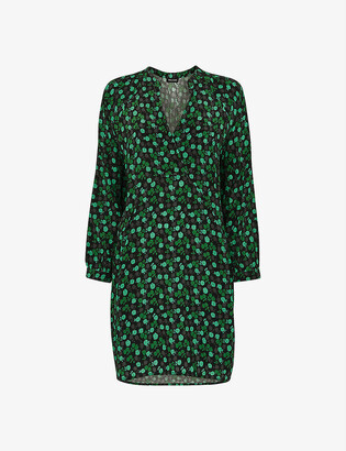 Whistles Sustainable Edit Winter Ditsy floral-print woven mini dress