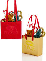 Holiday Lane Merry Christmas Set of 2 Macy's Paper Shopping Bag Ornaments, Created for Macy's