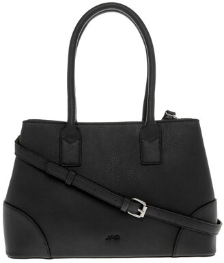 Jag Behati Double-Handle Black Tote Bag