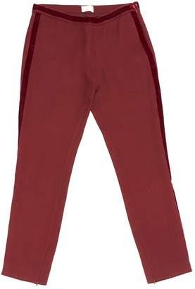 Giamba Red Viscose Trousers