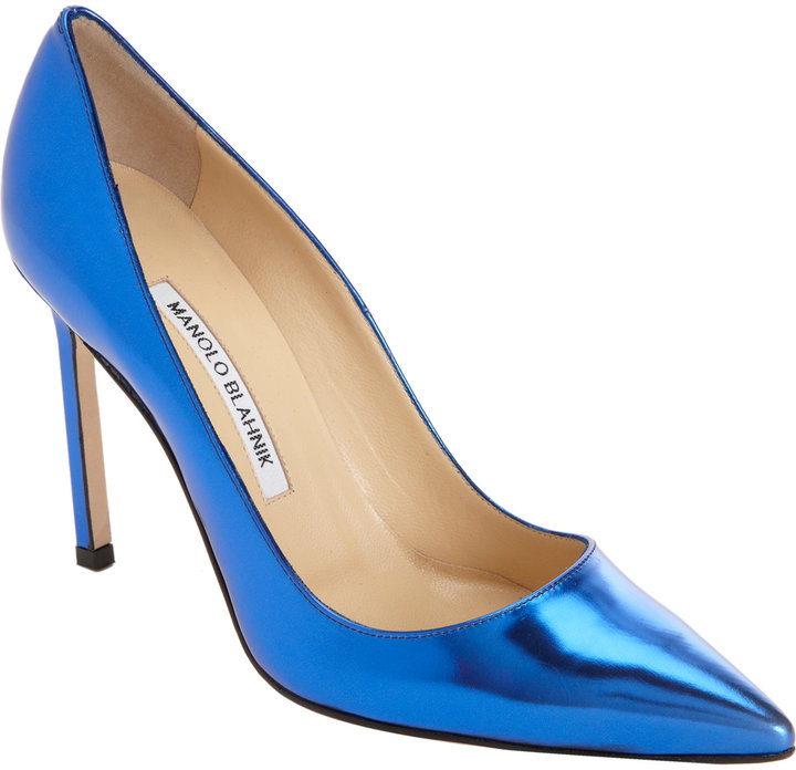 Manolo Blahnik Metallic BB