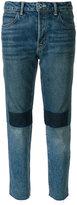 Helmut Lang patchwork high rise jeans