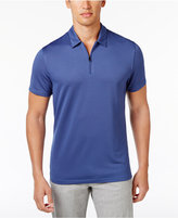 Alfani Men's Grid-Pattern Zip Polo, Only at Macy's