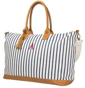 Cathy's Concepts Travel 2018 Personalized Striped Weekender Tote