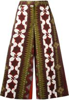 Valentino Cuban flower print palazzo pants - women - Cotton - 40
