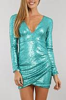 Xtaren Deep V Sequin Dress