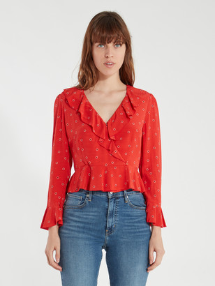 ASTR the Label Louisa Ruffle Top