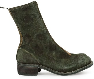 Guidi front-zip 40mm ankle boots