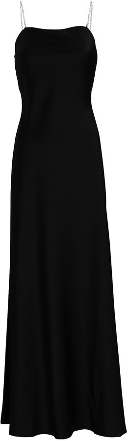 Racil Cherine Crystal Strap Crepe Gown