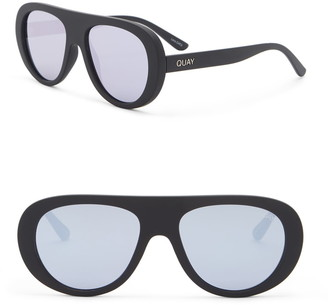 Quay Bold Move 56mm Aviator Sunglasses