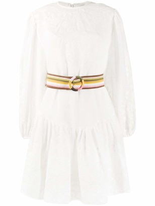 Zimmermann Zinnia Embroidered Mini Dress