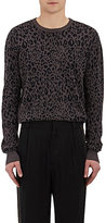 Robert Geller Men's Leopard-Jacquard Cotton-Silk Sweater