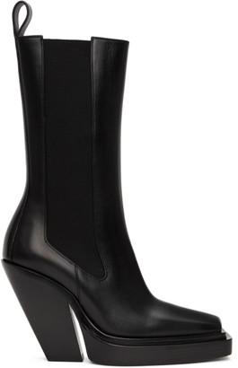 Bottega Veneta Black The Lean Chelsea Boots