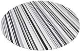 """Carnation Home Fashions Dfln-F60RD/BS31 Bohemian Stripe Round Fitted Vinyl Tablecloth, 60"""", Black"""