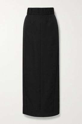 TOVE Celeste Cotton And Silk-blend Jacquard Maxi Skirt - Black