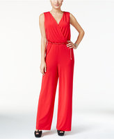 Thalia Sodi Surplice Belted Jumpsuit, Only at Macy's