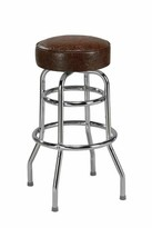 "Regal Bar & Counter Swivel Stool Seat Height: Counter Stool (26"" Seat Height), Upholstery: Mahogany"