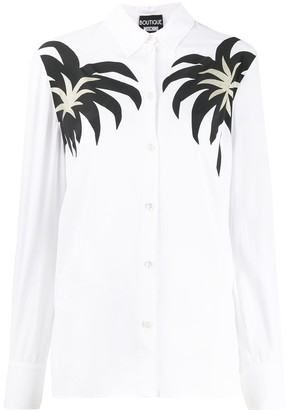 Boutique Moschino Palm Print Shirt