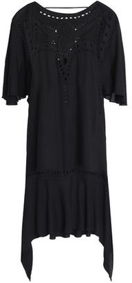 Vix Paula Hermanny Open Knit-trimmed Embroidered Voile Dress