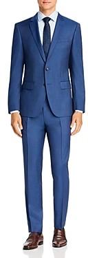 BOSS Huge/Genius Twill Solid Slim Fit Suit