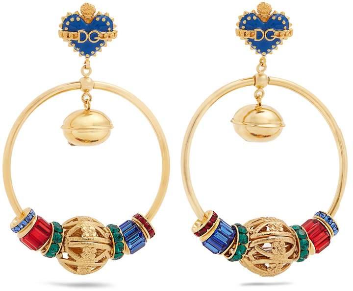 Dolce & Gabbana Charm-embellished drop earrings
