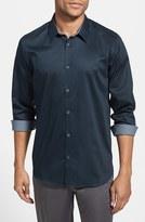 Ted Baker Men's 'Plancuf' Modern Slim Fit Stretch Sport Shirt
