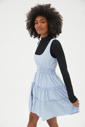Urban Outfitters Heather Tiered Ruffle Mini Dress