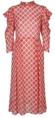 Hofmann Copenhagen Carla Dress in Fiery Red Print - xs | polyester
