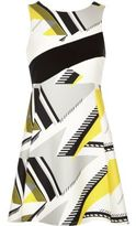 River Island Womens Yellow geometric pattern skater dress