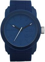 Diesel Men's Double Down Blue Silicone Strap Watch 46mm DZ1533