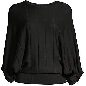 Peserico Women's Lurex Kimono-Sleeve Sweater