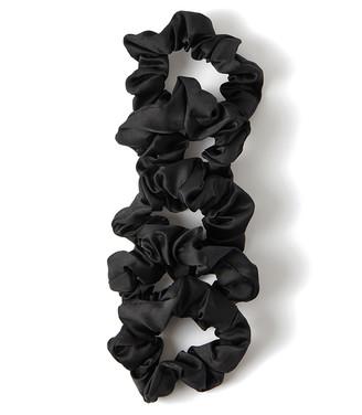 Kitsch Satin Sleep Scrunchies Black
