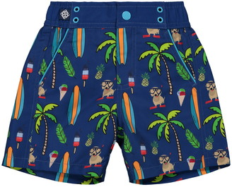 Andy & Evan Print Swim Trunks