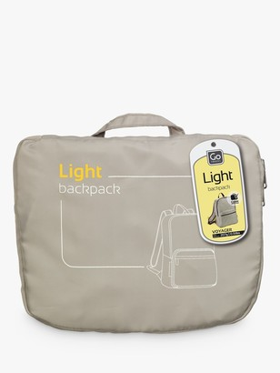 Go Travel Light Foldaway Backpack, Light Grey